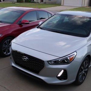 My 2018 GT and my wife's 17 Elantra Limited